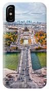 Paris City View 19 Art IPhone Case