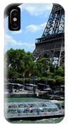 Paris Eiffel Boat IPhone Case