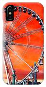 Paris Ferris Wheel Pop Art 2012 IPhone Case