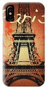 Paris In The Fall  IPhone Case