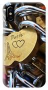 Paris Love Locks Paris France Color IPhone Case