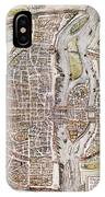 Paris Map, 1581 IPhone Case