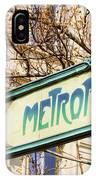 Paris Metro Sign Color IPhone Case