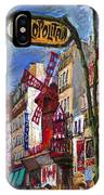 Paris Mulen Rouge IPhone Case