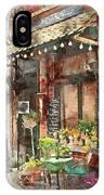 Paris Restaurant 5 - By Diana Van IPhone Case