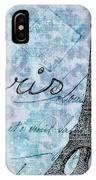 Paris - V01t01a IPhone Case