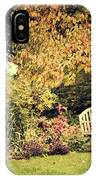 Park Bench, Fall IPhone Case