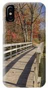 Park Bridge Autumn 2 IPhone Case
