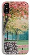 Park In Autumn/fall Colors IPhone Case