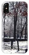 Park In The Snow IPhone Case