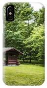 Park Shelter In Lush Forest Landscape IPhone Case