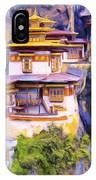 Paro Taktsang Monastery Bhutan IPhone Case