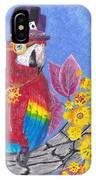 Parrot In Gear Tree IPhone Case