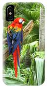 Parrot In Tropical Setting IPhone Case