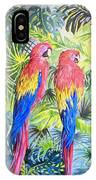 Parrots In Jungle IPhone Case