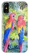 Parrots In Jungle IPhone Case