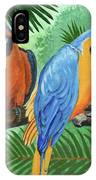 Parrots In Light And Shade IPhone Case
