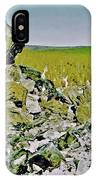 Part Of Large Obsidian Floe In  Newberry National Volcanic Monument, Oregon IPhone Case