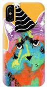 Party Cat- Art By Linda Woods IPhone X Case