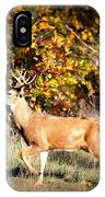 Passing Buck In Autumn Field IPhone Case