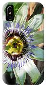 Passion Flower Close-up IPhone Case