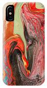 Passionate Waves Abstract Painting IPhone X Case