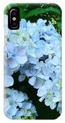 Pastel Blue Hydrangea Flowers Green Garden Floral IPhone Case