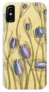 Pastel Floral Pattern On Soft Yellow Background IPhone Case