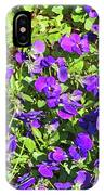 Patch Of Pansies IPhone Case