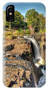 Paterson Water Falls Black And White IPhone Case