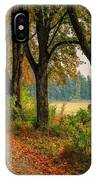 Path Along The Horses Meadow On The Farm Lovedayvale L B IPhone Case