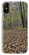 Path Home - Kettle Moraine 10-14-16 IPhone Case