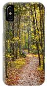 Path In Fall Forest IPhone X Case