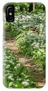 Path Through A Deciduous Forest, Wild Garlic IPhone Case