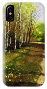 Path Through Silver Birches IPhone Case