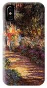 Pathway In Monet's Garden IPhone Case