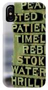 Patience IPhone Case