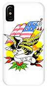 Patriotic Eagle Tattoo IPhone Case