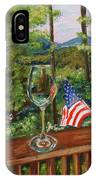 Star Spangled Wine - Fourth Of July - Blue Ridge Mountains IPhone Case