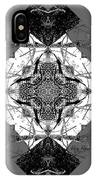Pattern In Black White IPhone Case by Deleas Kilgore
