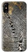Pattern On An Old Stump IPhone Case