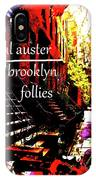 Paul Auster Poster Brooklyn  IPhone Case