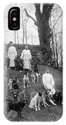 Pavlovs Dogs With Their Keepers, 1904 IPhone Case
