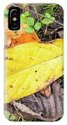 Paw Paw Leaf Fall Colors IPhone Case