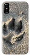 Pawprint In The Sand IPhone Case