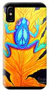 Peace Frog On Fall Leaf IPhone Case