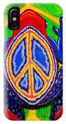 Peace Frog Too IPhone Case