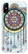 Peace Kite Dangle Illustration Art IPhone Case