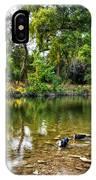 Peaceful Morning On Cibolo Creek IPhone Case