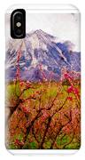 Peach Blossoms And Mount Lamborn Orchard Valley Farms IPhone Case
